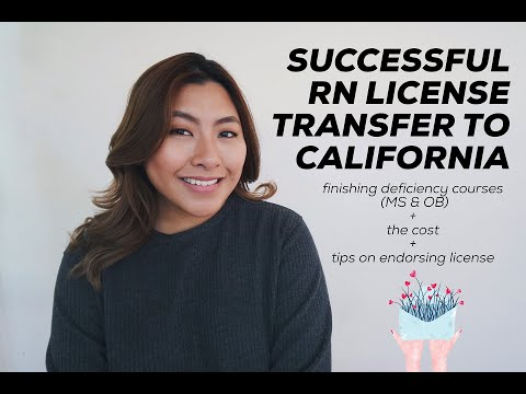 My RN License Endorsement To California Journey | Jamie Kate