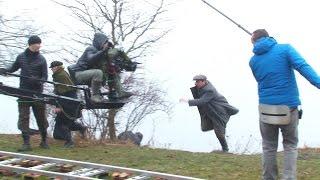 В кадре Светлана Ходченкова и Андрей Мерзликин – съемка сериала «Хождение по мукам»