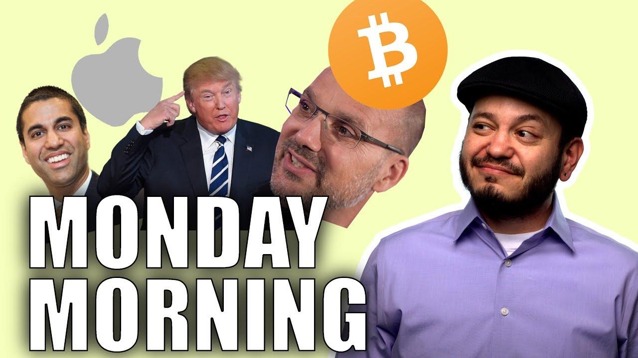 Trump and China, Bitcoin Backlash, Apple Lawsuits, Canadian Net Neutrality - #SGGQA Monday Tech Chat