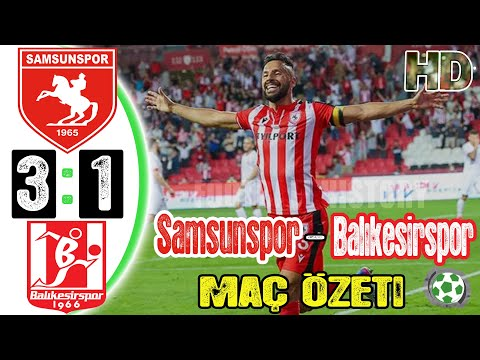 Samsunspor 3-1 Balıkesirspor Maç Özeti - HD - 20/08/2021