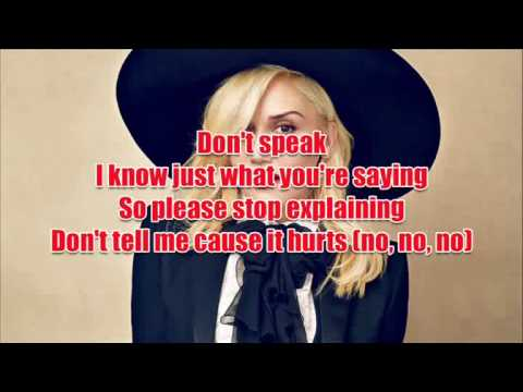 No Doubt - Don't Speak with Lyrics