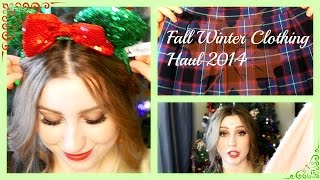 Fall Winter Clothing Haul 2014 | Hey There Bella | Thumbnail