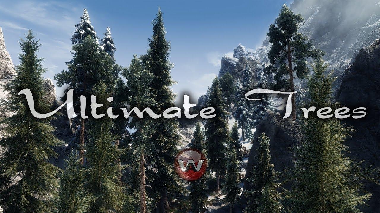 Ultimate Trees 2019 Skyrim Se Dyndolod 3d Ultra Trees Enhanced Vanilla Trees Youtube