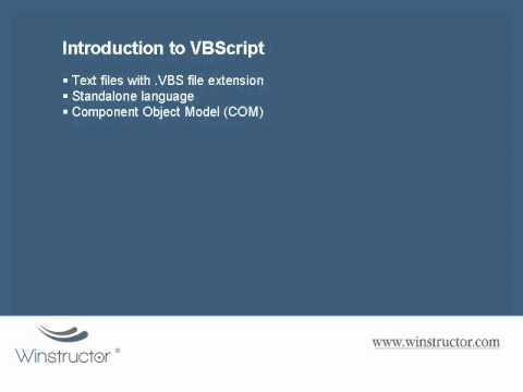 VBScript - Introduction to VBScript (1 - 9)
