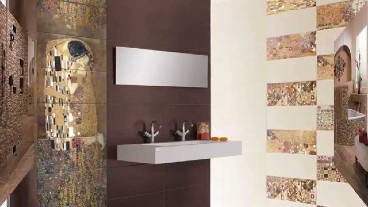 contemporary bathroom tile design ideas youtube - Wall Designs With Tiles