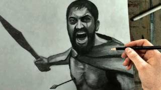 How to Draw Leonidas 300 Sparta Step by Step (Gerard Butler)