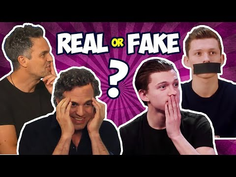 AVENGERS CAST SPOILING MOVIES - REAL OR FAKE