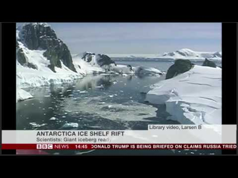 Mark Brandon on BBC News 6 Jan 2017. Interview about Larsen C
