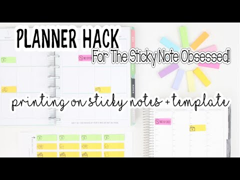 Planner HACK For Budget Planning❗️Print On Sticky Notes + Template | HP & Erin Condren View