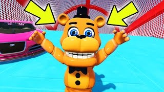 ADVENTURE FREDDY STUNTS ON WORLD'S BIGGEST RAMPS IN GTA 5! (GTA 5 Mods For Kids FNAF Funny Moments)
