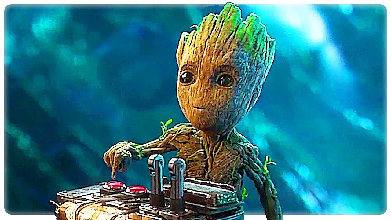 Guardians Of The Galaxy  Baby Groot Best Funny Movie Clips