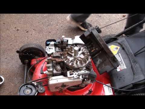 Lawnmower Hit Something Hard! Won't START or RUN. Sheared Flywheel Key Replaced, Bent Blade..