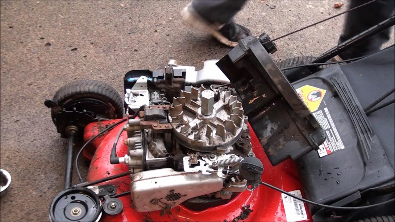 Lawnmower Hit Something Hard! Won't START or RUN  Sheared Flywheel Key  Replaced, Bent Blade