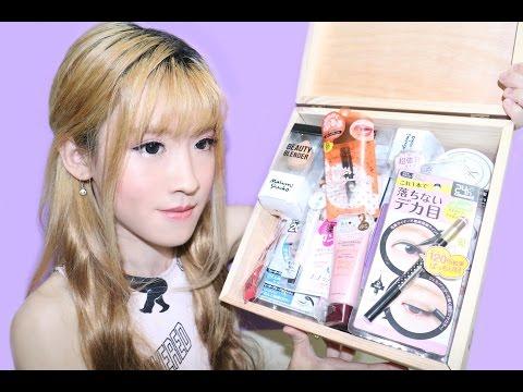 Unboxing KAY Collection Beauty Box & Kawaii Makeup Tutorial