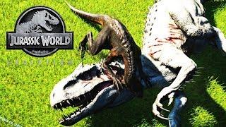 INDORAPTOR CONTRA DINOSAURIOS MAS GRANDES 2 JURASSIC WORLD EVOLUTION