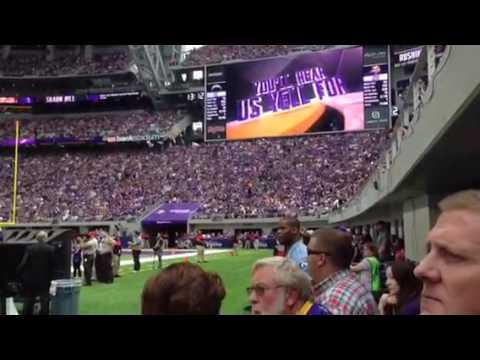 Fight Song at new Viking Stadium!