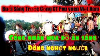 #Grab #PouyuenViệtNam     Buổi sáng đi làm công ty POU YUEN VIỆT NAM