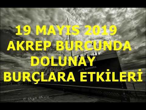 19 MAYIS 2019 AKREP BURCUNDA DOLUNAY TÜRKİYE VE BURÇLARA ETKİLERİ