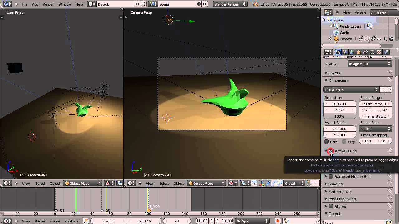Blender Tutorial - Rendering Animation Frames to a File - YouTube