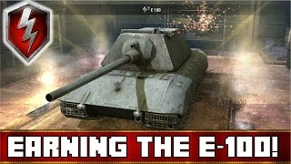 My FIRST Tier 10 Tank! | Earning the E-100 | World of Tanks Blitz