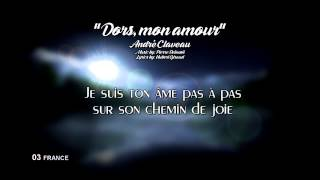 """03) FRANCE """"Dors, Mon Amour"""" - André Claveau (Lyrics) [Eurovision 1958}"""