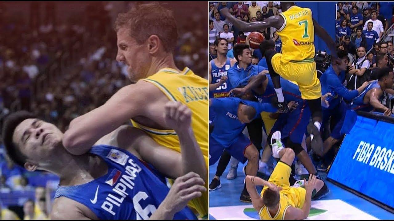 FIGHT ERUPTS BETWEEN PHILIPPINES   AUSTRALIA - Philippines vs Australia -  FIBA World Cup Qualifier 00145177a