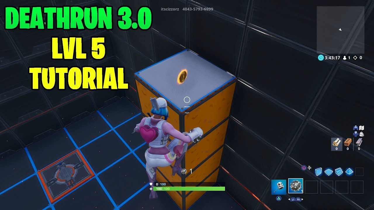 How To Complete Cizzorz Deathrun 3 0 Level 5 Guide Youtube