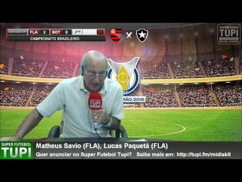 Flamengo 2  x 0 Botafogo - 14ª Rodada - Brasileirão - 21/07/2018