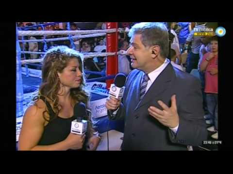 Claudia Lopez vs Maria Maderna - IBF - Pre Fight- Ring Side - Interview