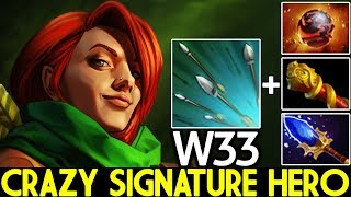 W33 [Windranger] New Crazy Signature Hero Unreal Damage 7.23 Dota 2