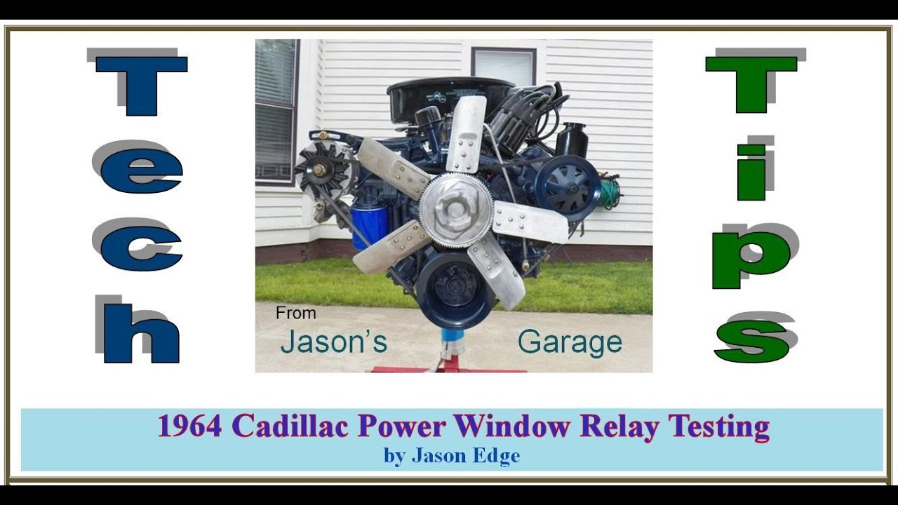 From Jasons Garage 1964 Cadillac Power Window Relay Testing Youtube Electric Wiring