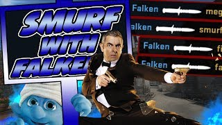 SMURF WITH FALKEN #7