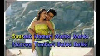Tauba Tumhare Yeh Ishare Karaoke hindi song. Alka and abhijit. Chalte Chalte..flv