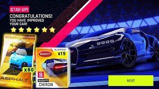 ASPHALT 9 | Opening 80 Bugatti Chiron packs & Test Drive
