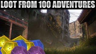 Loot from 100 Adventures - Destiny 2 In Depth!