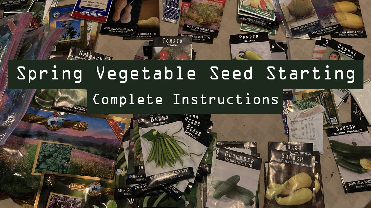Complete Instructions for Spring Seed Starting