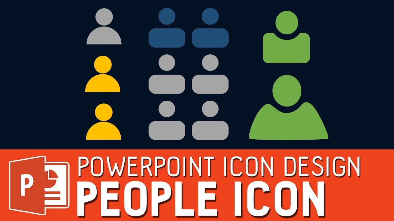 design a people icon in powerpoint powerpoint icon design youtube