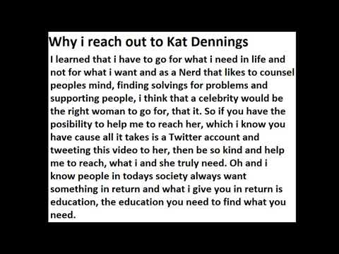 Why i reach out to Kat Dennings