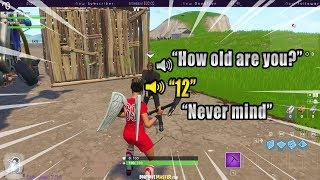 FORTNITE VOICE CHAT WITH RANDOM DUOS IS HILARIOUS!  Fortnite highlights #262