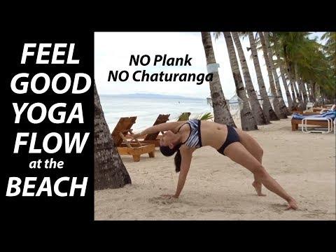 Feel Good Beach Yoga Flow (Plank-Free & Chaturanga-Free) - 12 Minutes