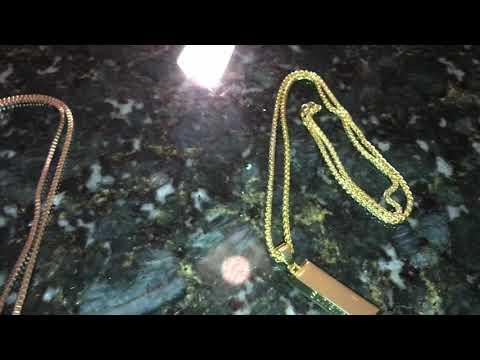 Fake Supreme Uzi And Gold Bar Chain Review