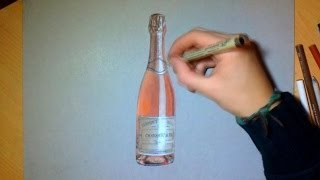 How i draw a Bottle of Champagne!