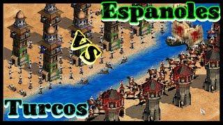 Turcos VS Españoles   ¿Quien Gana?   Civilizaciones-Estrategias Age of Empires II The Conquerors