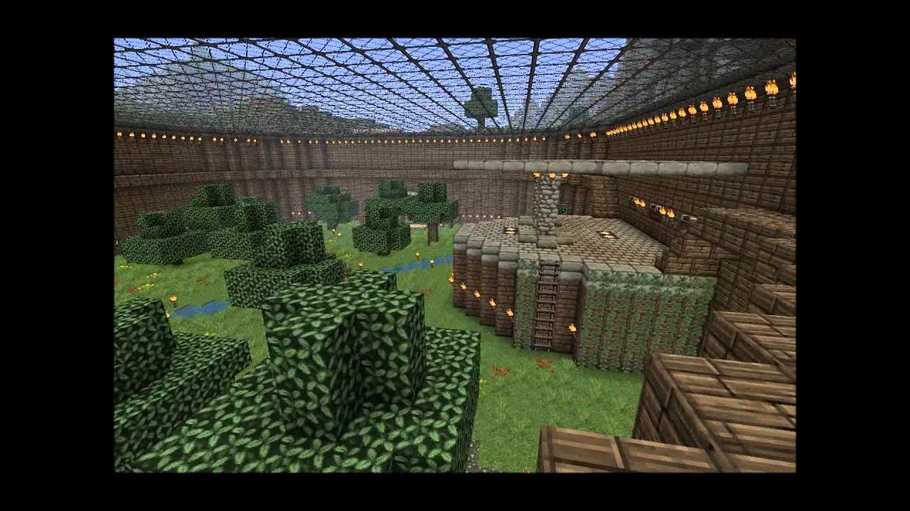 Minecraft Beautiful Garden minecraft: underground garden. - youtube