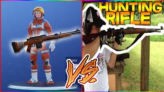 FORTNITE WEAPONS in REAL LIFE!! (Hunting Rifle,Rocket Launcher,Scar)