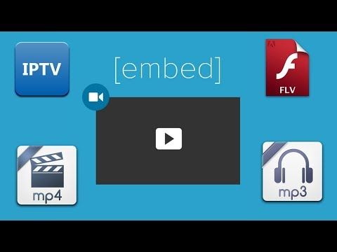 how to embed livesteam/.ts/.mp4/.http/.mp3 in your site/blog!