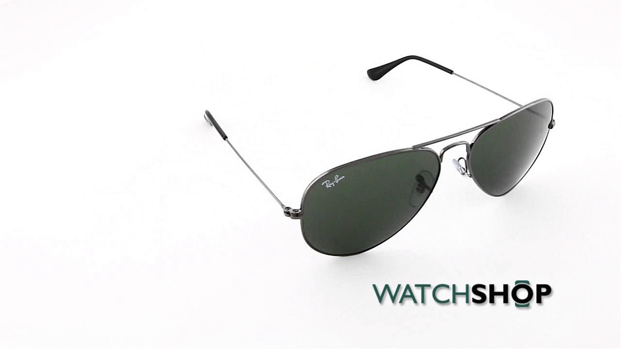 dadd5432d63 Ray-Ban Men s Aviator Classic Sunglasses (RB3025-W0879-58) - YouTube