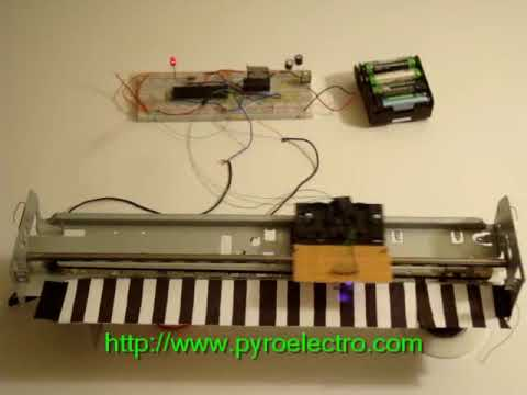 Linear optical encoder from printer parts | Make: