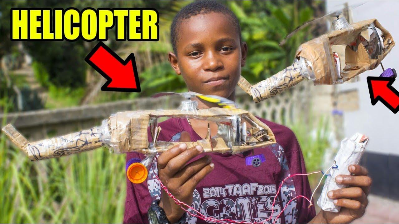 Download Dogo Katengeneza Helicopter inayopaa kwa kutumia Betri!