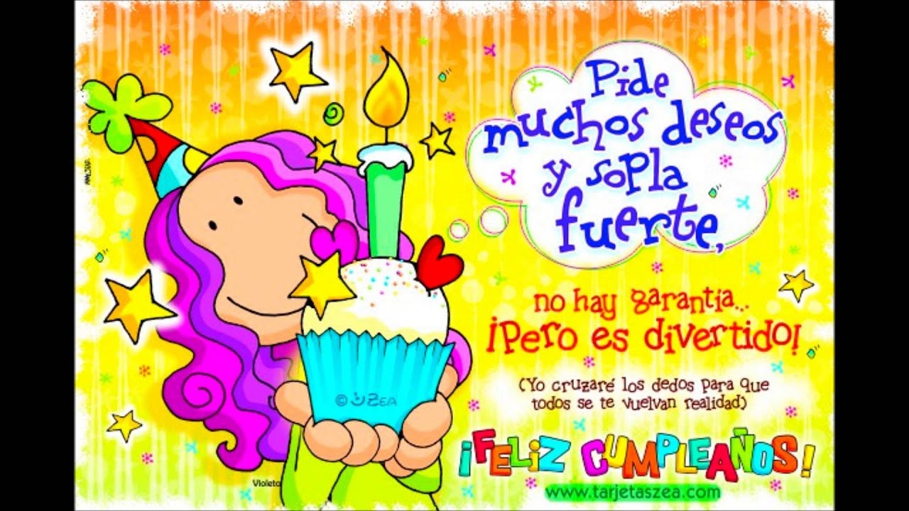 Feliz Aniversário Para Tia: PARA MI TÍA